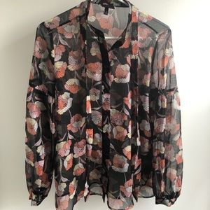 Who What Wear patterned blouse